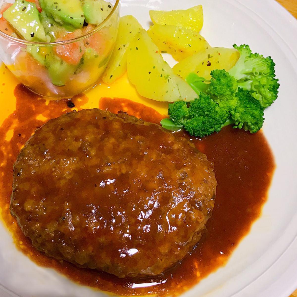 鹿児島黒牛煮込みハンバーグ&ローストビーフセット