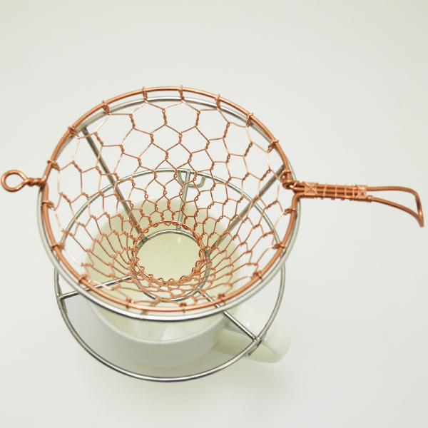 手編みコーヒードリッパー 銅